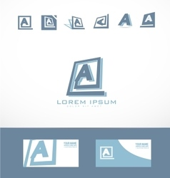 Letter A square abstract logo vector image
