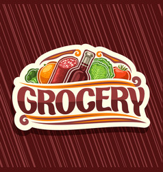 logo for grocery store vector image