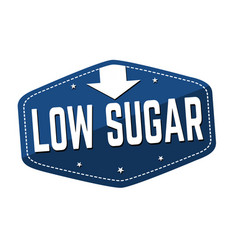 low sugar label or sticker vector image