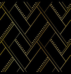 luxury black and gold geometric seamless pattern vector image