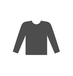 male long sleeve glyph icon vector image