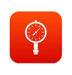 Manometer or pressure gauge icon digital red vector