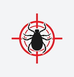 Mite icon red target vector