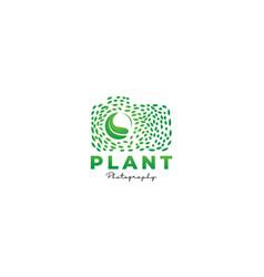 Nature or outdoor camera lens photography logo vector