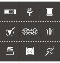 Needlywork icon set vector image