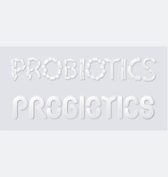 Neumorphic probiotics vector