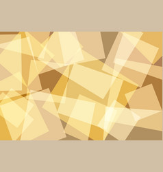 orangeyellow gold square abstract background vector image