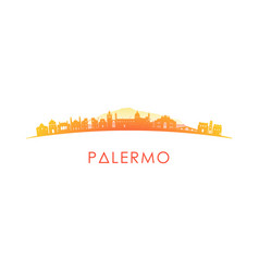 palermo skyline silhouette design colorful vector image