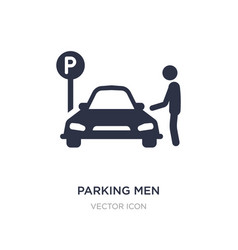 Parking men icon on white background simple vector