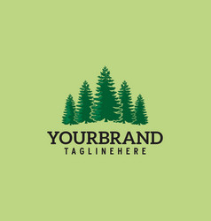 Pines tree its good for forest conservation logo vector