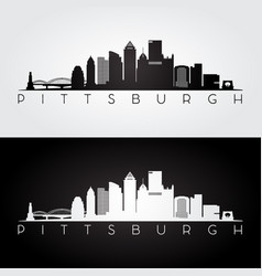 Pittsburgh usa skyline and landmarks silhouette vector
