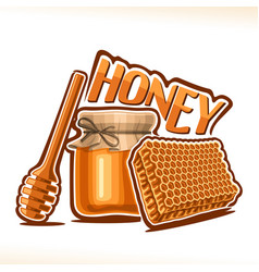 poster for rustic honey vector image