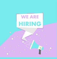 Recruitment job sign employer flat background vector