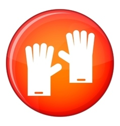 Rubber gloves icon flat style vector