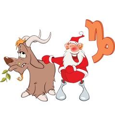 Santa Claus Astrological Sign in Zodiac Capricor vector
