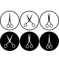 Scissors in frame vector