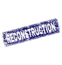 Scratched reconstruction framed rounded rectangle vector