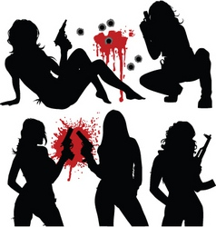 sexy criminals vector image