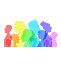 silhouette social diversity people diverse vector image