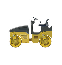 Small road roller vector
