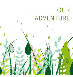Square flat banner fun our adventure everyday vector