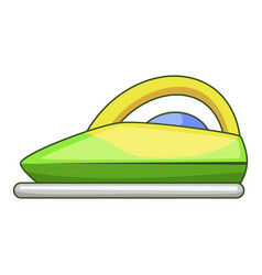 Steam iron icon cartoon style vector