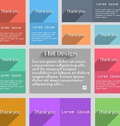 Thank you sign icon Gratitude symbol Circles and vector image