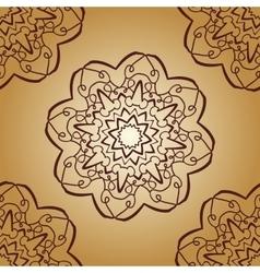 Vintage mandala pattern retro brown color vector image