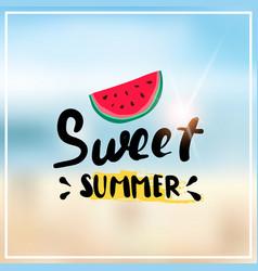 watermelon summer blurred sea bokeh beach vector image