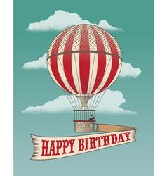 Birthday greeting card - Air balloon vector image vector image