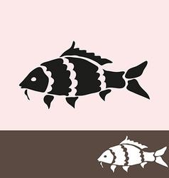 carp symbol vector image vector image