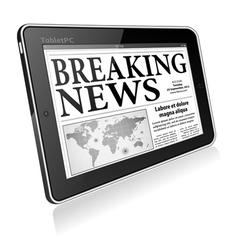 Concept - Digital Breaking News vector image vector image