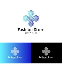 elegant looped logo Blue and violet vector image