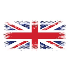great britain flag halftone vector image vector image