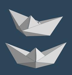 paper ships set vector image