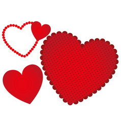 red heart background icon vector image