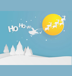 santa clause flying on sky vector image