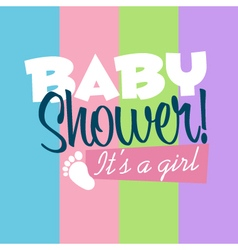Baby Girl Shower Greeting Card vector image vector image