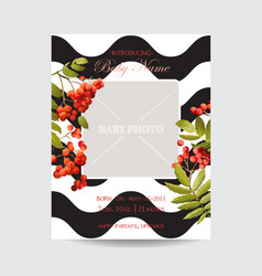 baby shower invitation template floral card vector image