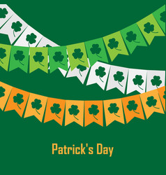 Bunting with clover on vector