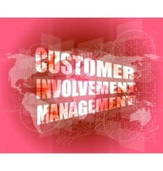 customer involvement management word on business vector image