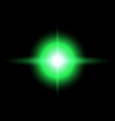 green Star burst vector image vector image