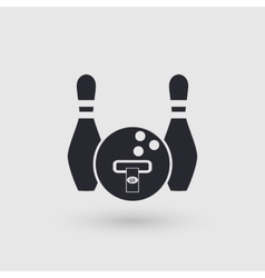 Icon bowling Banking terminal ATM bowling club vector image