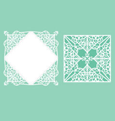laser cutting template vector image vector image