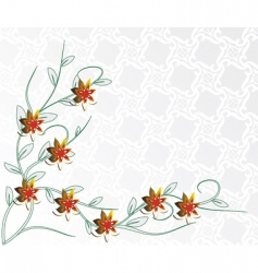 light background with red flowers vector image vector image