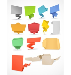 origami banners vector image vector image