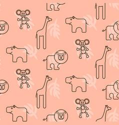safari animals kid seamless pattern vector image vector image