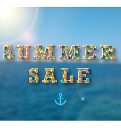 Summer sale banner for your design vector image