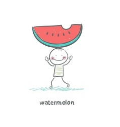 Watermelon and people vector image