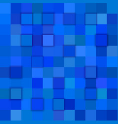 blue abstract 3d cube background vector image